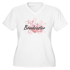 Broadcaster Artistic Job Design Plus Size T-Shirt