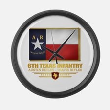 6th Texas Infantry Large Wall Clock