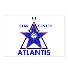 Star Center Atlantis Postcards (package Of 8)