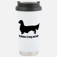 Cute Long haired dachshund Travel Mug