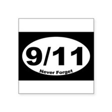 "Funny In rememberance Square Sticker 3"" x 3"""