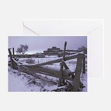Taos Pueblo Winter Greeting Cards