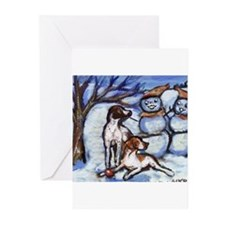 Cute Setter art Greeting Cards (Pk of 20)