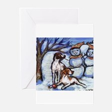 Cool English pointer dog breed Greeting Cards (Pk of 20)