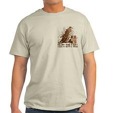 Barrel racing horse. Roll. T-Shirt