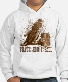 Barrel racing horse. Roll. Hoodie Sweatshirt