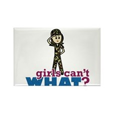 Army girls Rectangle Magnet (10 pack)