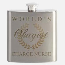 Cute Charge nurse Flask
