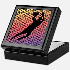 Soccer Goalie Keeper Art Sunset Keepsake Box