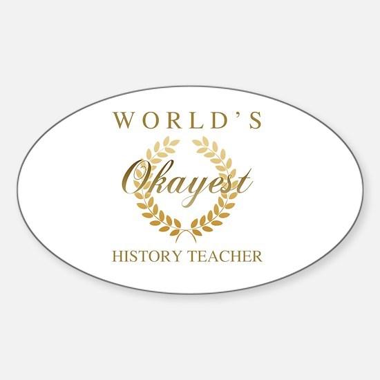 Funny Best teacher autism school Sticker (Oval)