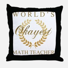 Cute Funny math joke Throw Pillow