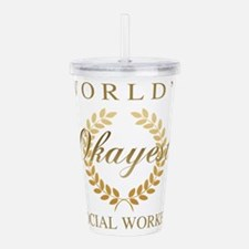 World's Okayest Social Acrylic Double-wall Tumbler