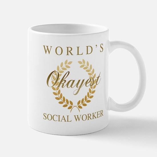 World's Okayest Social Worker Mugs