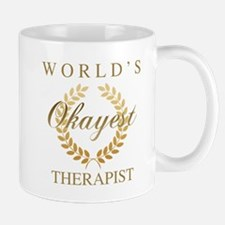 World's Okayest Therapist Mugs