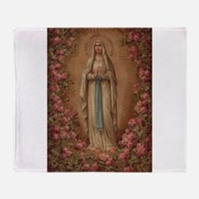 Our Lady Of Lourdes Throw Blanket