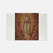 Our Lady Of Lourdes Rectangle Magnet
