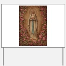 Our Lady Of Lourdes Yard Sign