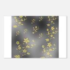 gold and silver Postcards (Package of 8)