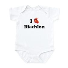 I (Heart) Biathlon Infant Bodysuit