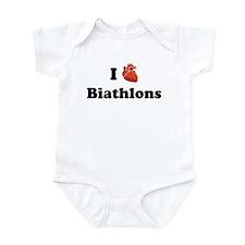 I (heart) Biathlons Infant Bodysuit