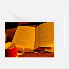 Cute Book reader Greeting Card