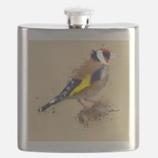 Cool Gold finch Flask