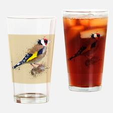 Cute Gold finch Drinking Glass