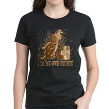 Horse barrel racing. Stunts. Tee