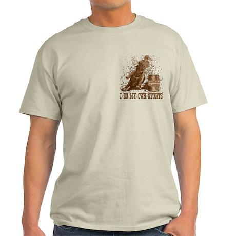 Horse barrel racing. Stunts. Light T-Shirt