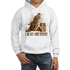 Horse barrel racing. Stunts. Hoodie Sweatshirt