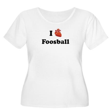 I (Heart) Foosball Women's Plus Size Scoop Neck T-