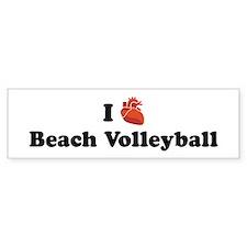 I (Heart) Beach Volleyball Bumper Bumper Sticker