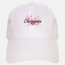 Clergyman Artistic Job Design with Flowers Cap