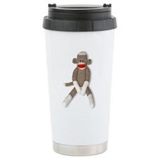 Cute Sock monkey Travel Mug