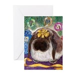 Lop Rabbit Holiday Greeting Cards