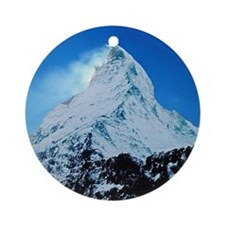 Cute Mountains Round Ornament