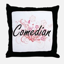 Comedian Artistic Job Design with Flo Throw Pillow