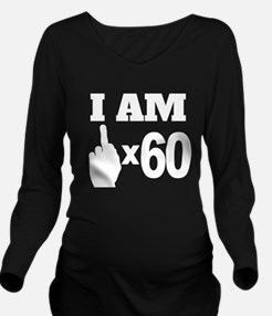 Middle Finger Times 60 Years Old Long Sleeve Mater