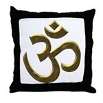 Golden Ohm Throw Pillow