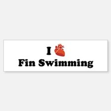 I (Heart) Fin Swimming Bumper Bumper Bumper Sticker