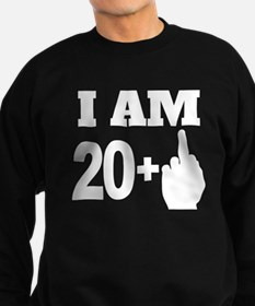 21 Years Old Middle Finger Sweatshirt
