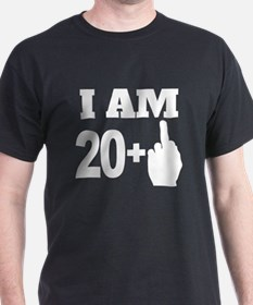 21 Years Old Middle Finger T-Shirt