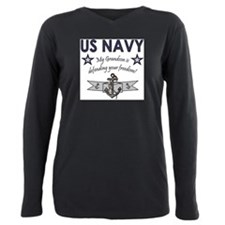 Unique Proud military husband Plus Size Long Sleeve Tee