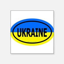 "Cute Ukraine Square Sticker 3"" x 3"""