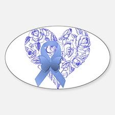 Blue awareness ribbon Decal