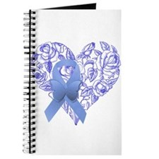Blue awareness ribbon Journal
