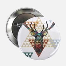 "Colorful modern geometric christmas d 2.25"" Button"