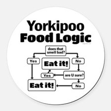 Yorkiepoo Food Round Car Magnet