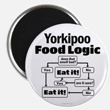 Yorkiepoo Food Magnet
