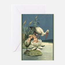 Cute Congratulations on baby Greeting Cards (Pk of 10)
